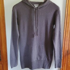J. Crew cashmere gray hoodie. Kangaroo pocket S